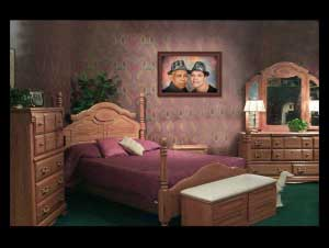 Wall Decor showcasing family portrait in a bedroom