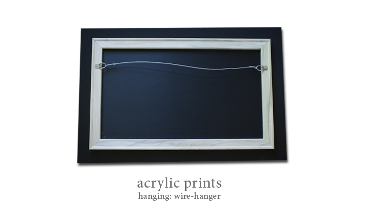 Acrylic - Hanging: Wire-Hanger