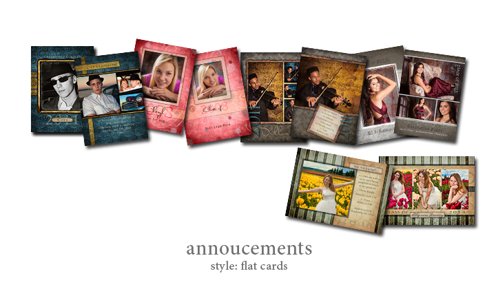 Photo Announcements - Style: Flat-Cards