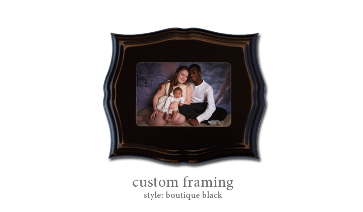 Custom Framing - Style: Boutique Black